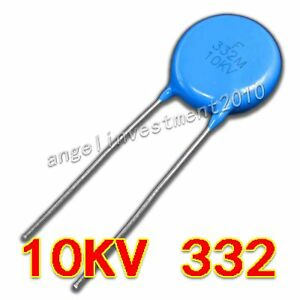 New High Voltage Ceramic Capacitor 10kv332 10000v 3300pf 3 3nf