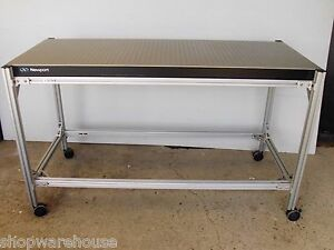Free Crate Ship Newport Optical Breadboard Table W Roll Around Bench Lab