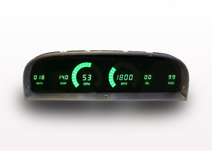 1960 1963 Chevy Truck Digital Dash Panel Green Led Gauges Made In The Usa