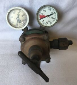 Rare Vintage Oxygen Us Gauge Ny Harris Cleveland Steampunk Antique Mickey Mouse