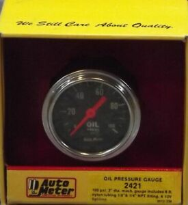 2 Inch Mechanical Oil Pressure Gauge Kit Autogage By Autometer 2421