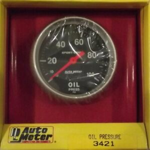 2 5 8 Inch Mechanical Oil Pressure Gauge Kit Autogage By Autometer 3421