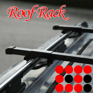 Jeep Utility Rooftop Roof Rack Cargo Square 48 Cross Bars Luggage Carrier Set