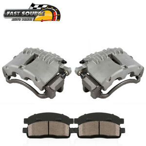 Front Quality Oe Brake Calipers And Ceramic Pads 2003 2004 Ford Mustang Base Gt
