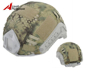 Airsoft Military Hunting Tactical Helmet Cover for Ops-Core Fast Helmet MR Camo