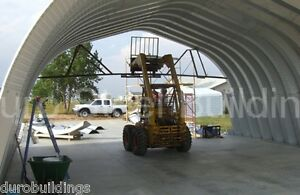 Durospan Steel 40x42x18 Metal Quonset Arch Building Kit Open Ends Factory Direct