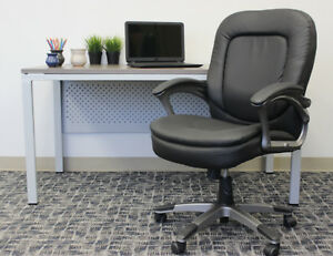 Boss Office Home Black Executive Pillow top Mid back Chair