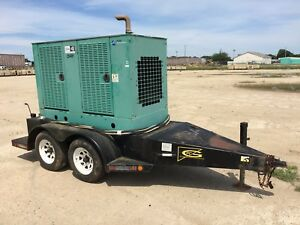 Cummins 35 Kw Portable Diesel Generator 3 038 Hours Ready To Go