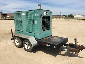 Cummins 35 Kw Portable Diesel Generator 1 457 Hours Ready To Go