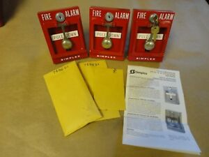 Simplex Fire Alarm Pull Station 4251 30 Break Glass Keys Instructions