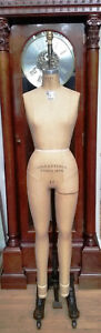 Vtg Wolf Dress Form Model 1976 Mannequin Sz 10 Full Body Collapsible Iron Stand