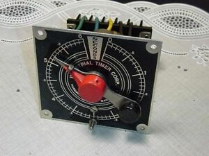 Vintage Industrial Timer Corporation 0 6 Second Timer Module Panel Mount Used