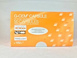 Gc G cem Capsules Self adhesive Resin Luting Cement Translucent 50 box fda