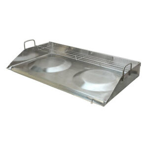 32 Stainless Steel Convex Griddle Comal With Rack