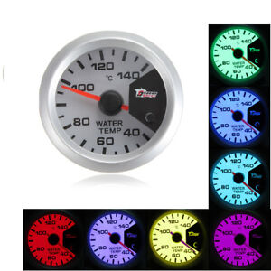 Universal 7 Color 2 52mm Car Led Water Temperature Temp Gauge Meter