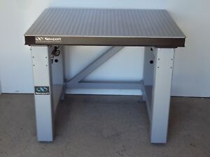 Tested Newport Optical Table Self Level Pneumatic Isolation Bench Breadboard Lab