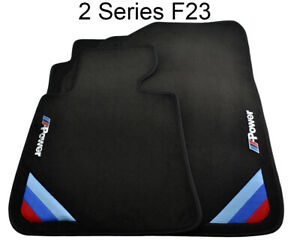 Bmw 2 Series F23 Black Floor Mats With m Power Emblem Lhd With Clips New