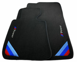 Bmw 6 Series F13 F13lci Black Floor Mats With m Power Emblem Lhd Clips New