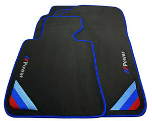 Bmw 1 Series E88 Black Floor Mats Blue Rounds With m Power Emblem Lhd New