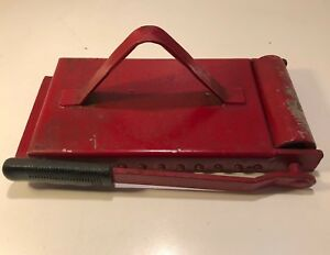 26lb Vintage Industrial Sheet Metal Magnet Roll Off Lever 13 1 2 X 6 1 4