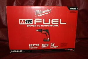 Milwaukee 2866 22ct M18 Fuel 18v Brushless Compact Drywall Screw Gun Kit New