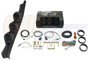 95 98 Gmc C K Truck Triple Pillar Pod Black Glowshift Diesel Gauge Set