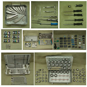 Huge Lot Stryker Howmedica Osteonics Orthopedic Instruments Set