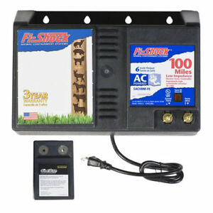 Fi shock Eac100m fs Ac Powered Low Impedance Electric Fence Charger Battery Po