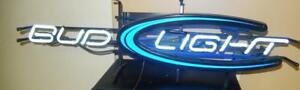 Bar Supplies Bud Light Long Neon Lighted Sign Exc W60
