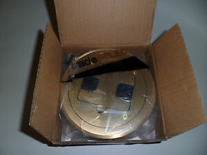Hubbell Tradeselect Floor Box W Tr 15a Duplex Recept Solid Brass Cover Rf406br