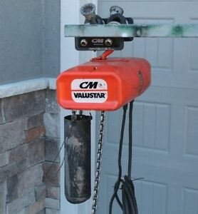 Cm Valustar Wl 1 Ton Electric Chain Hoist 16ft Lift 8 Ft Pendant 115v 16fpm
