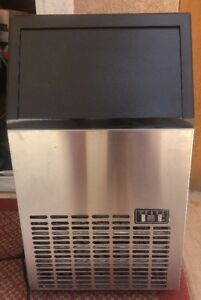 Used Costway Built in Stainless Steel Commercial Ice Maker Portable Ice Machine