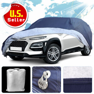 Full Car Cover Waterproof 16ft Breathable Blue All Weather Protection Universal