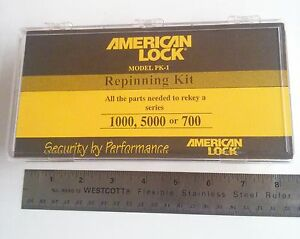 American And Master Padlock Rekeying Kit For Servicing And Repinning Padlocks
