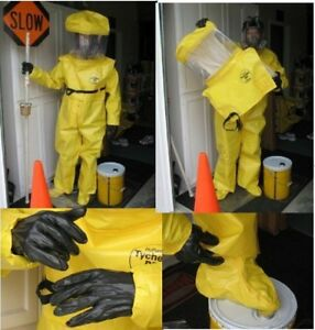 Lakeland Br180 Tychem Chemical Suit Size Small And Br780 Hood