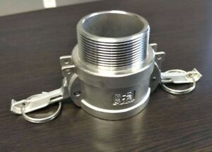 3 Inch Camlock Fitting Type B 316 Stainless Steel Female Camlock X Male Npt