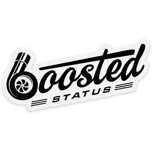 Boosted Status Decal Sticker Black Boost Turbo