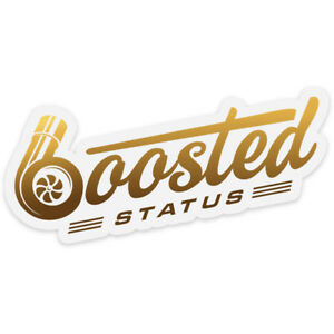 Boosted Status Decal Sticker Gold Boost Turbo