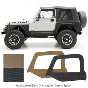 9970235 Replacement Soft Top Upper Skins Tinted Windows 97 06 Jeep Wrangler Tj