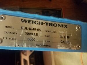 Weigh tronix Scale Rarely Used 48 X 48