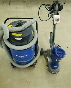 Blastrac Bgs 250 115 Surface Grinder Tile Removal Floor Stripping Scraper And