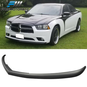 Fits 11 14 Dodge Charger Sedan 4dr Pp Oe Style Front Bumper Lip Spoiler