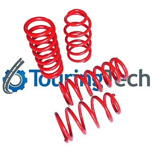 Touring Tech Lowering Springs 1 7 f 1 8 r Red For 2015 Mustang Tt f209