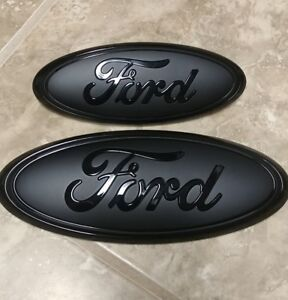 2011 2015 Ford Explorer Grill And Liftgate Gloss matte Pair Emblem 9