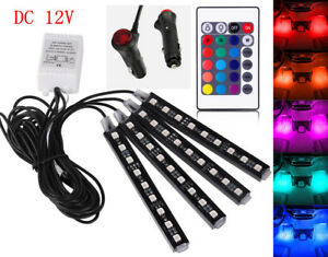 Cool Accessories Car Interior Led Lights Lamp Kit Under Dash Foot Well Seats