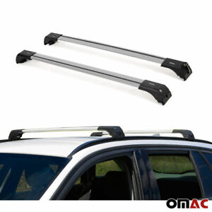 Buick Encore 2013 Roof Racks Cross Bars Rails Alu Silver 2pc Set