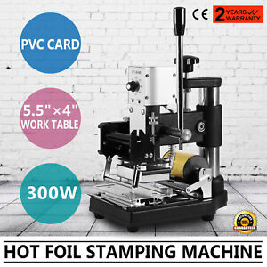 Hot Foil Stamping Machine Diy Printing Heat Up Quickly Free Foil Pvc Card Paper