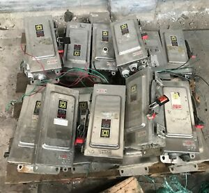 Square D 30 Amp 600 Volt Stainless Steel Safety Switches Dicsconnects lots Of