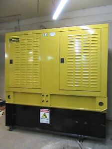 160 Kw Caterpillar Diesel Generator 175 Kw Enclosed With Base Tank 12 Lead 480 V