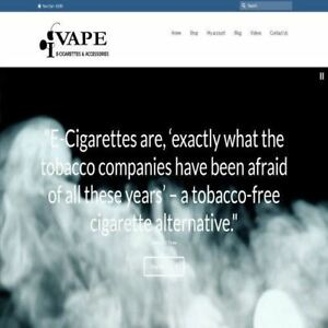Vaping Shop Mobile Friendly Responsive Website Business For Sale Hosting